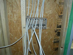 preparing for the electrical wiring rough in process of new home rh fromplattoplace com rough in electrical wiring for dishwasher how to rough in electrical wiring australia
